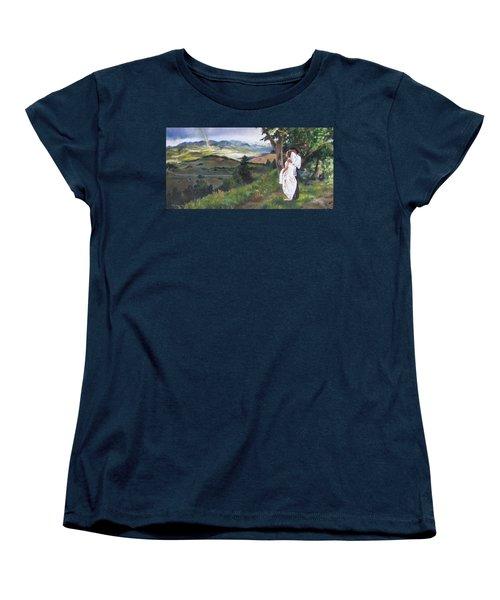 Women's T-Shirt (Standard Cut) featuring the painting Beginnings by Lori Brackett