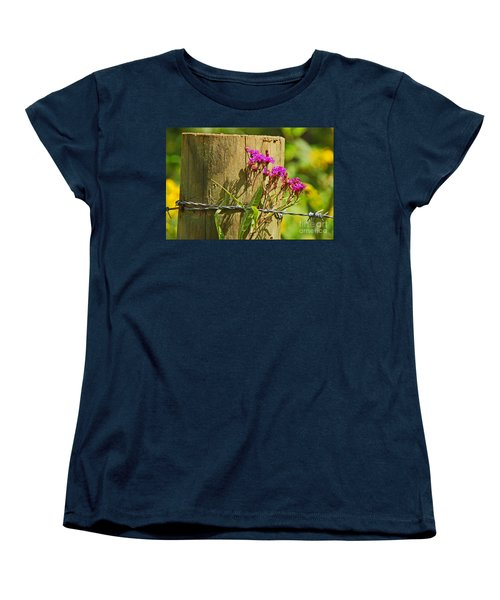 Behind The Fence Women's T-Shirt (Standard Cut) by Mary Carol Story