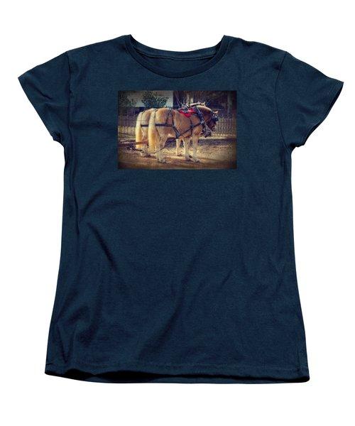 Belgium Draft Horses Women's T-Shirt (Standard Cut) by Charles Beeler