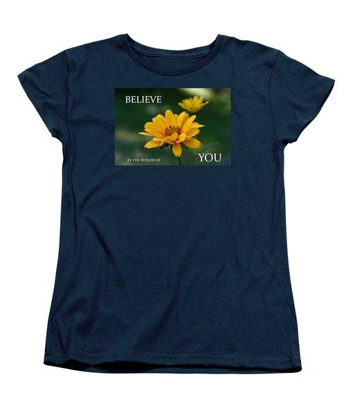 Believe Women's T-Shirt (Standard Cut) by Denyse Duhaime