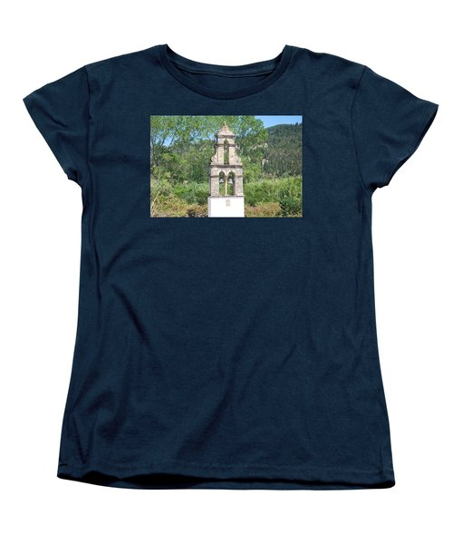 Women's T-Shirt (Standard Cut) featuring the photograph Bell Tower 1584 1 by George Katechis