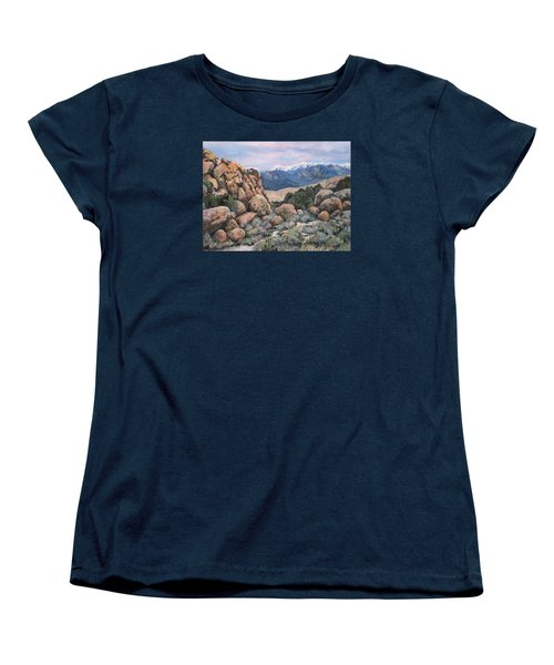 Women's T-Shirt (Standard Cut) featuring the painting Benton by Donna Tucker