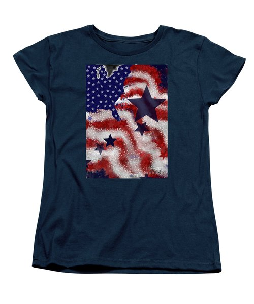 Women's T-Shirt (Standard Cut) featuring the painting Betsy's Dream by Carol Jacobs