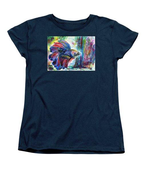Betta Women's T-Shirt (Standard Cut) by Zaira Dzhaubaeva