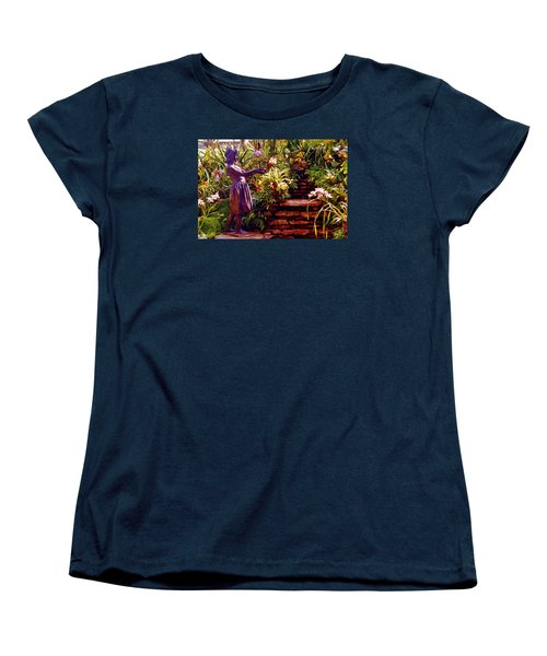 Between The Steps Women's T-Shirt (Standard Cut) by Daniel Thompson