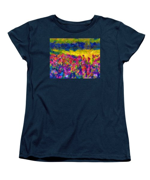 Women's T-Shirt (Standard Cut) featuring the painting Beyond A Simple Love by Joe Misrasi