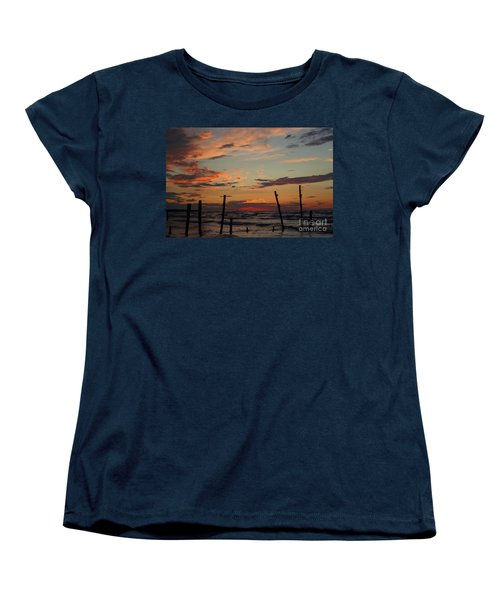 Women's T-Shirt (Standard Cut) featuring the photograph Beyond The Border by Barbara McMahon