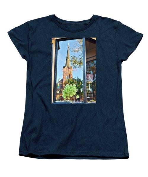 Biblion Used Books Reflections 3 - Lewes Delaware Women's T-Shirt (Standard Cut)