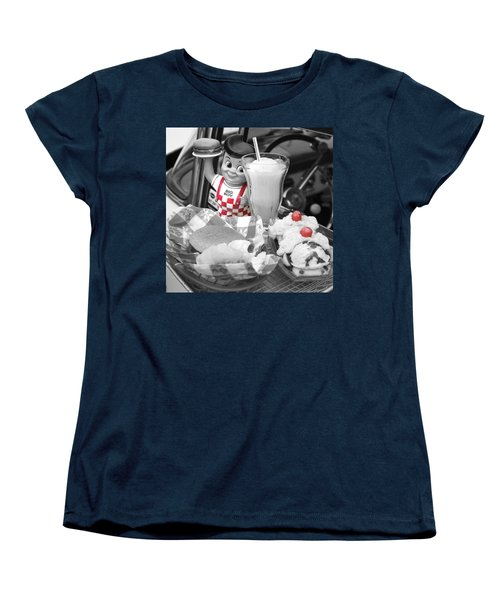 Big Boy In Black And White Women's T-Shirt (Standard Cut) by Sonya Lang