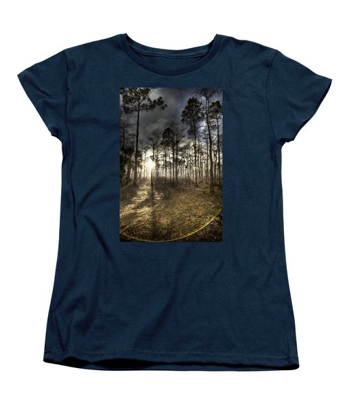 Big Cypress Fire At Sunset Women's T-Shirt (Standard Cut) by Bradley R Youngberg