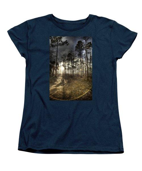 Big Cypress Fire At Sunset Women's T-Shirt (Standard Cut)