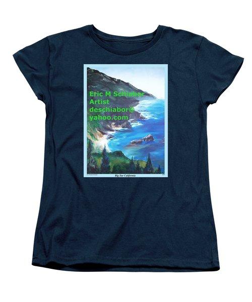 Big Sur Califorina Women's T-Shirt (Standard Cut) by Eric  Schiabor