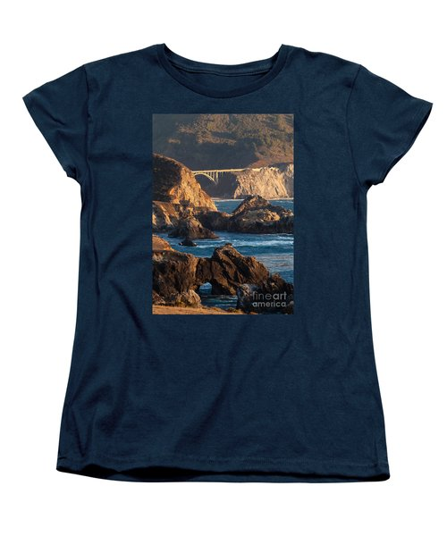 Big Sur Coastal Serenity Women's T-Shirt (Standard Cut) by Mike Reid