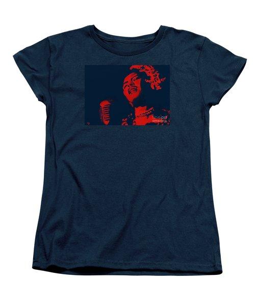 Women's T-Shirt (Standard Cut) featuring the painting Billie Holiday by Vannetta Ferguson