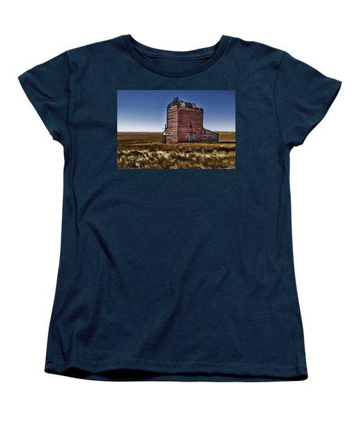Women's T-Shirt (Standard Cut) featuring the painting Bingo Grain Co by Muhie Kanawati