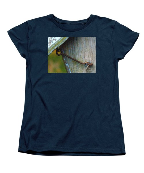 Bird Feeder Locked Memory Women's T-Shirt (Standard Cut) by Brenda Brown