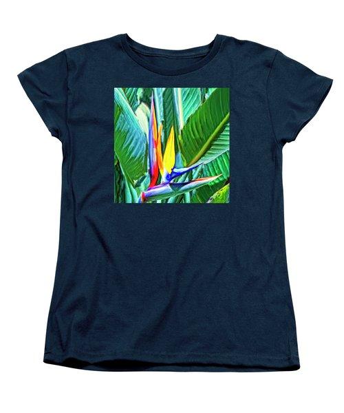 Bird Of Paradise Women's T-Shirt (Standard Cut) by Dominic Piperata