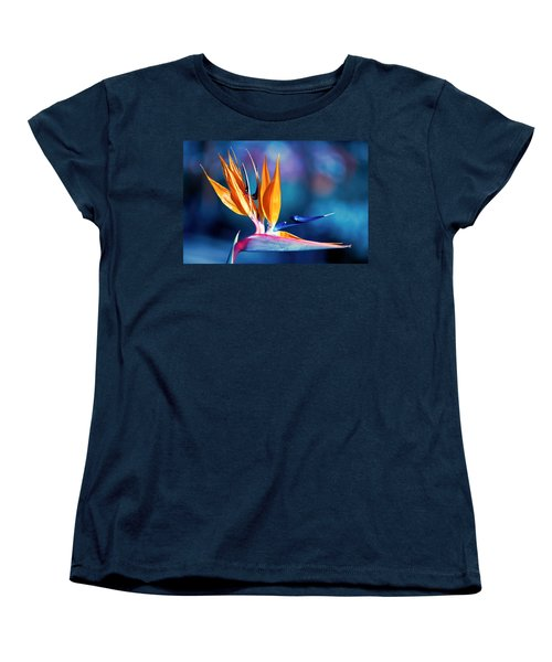 Bird Of Paradise Women's T-Shirt (Standard Cut) by Gunter Nezhoda