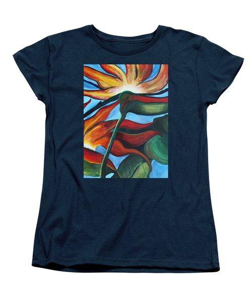 Women's T-Shirt (Standard Cut) featuring the painting Bird Of Paradise by Jolanta Anna Karolska