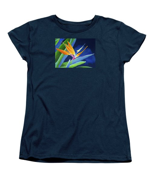 Bird Of Paradise Women's T-Shirt (Standard Cut) by Stephen Anderson
