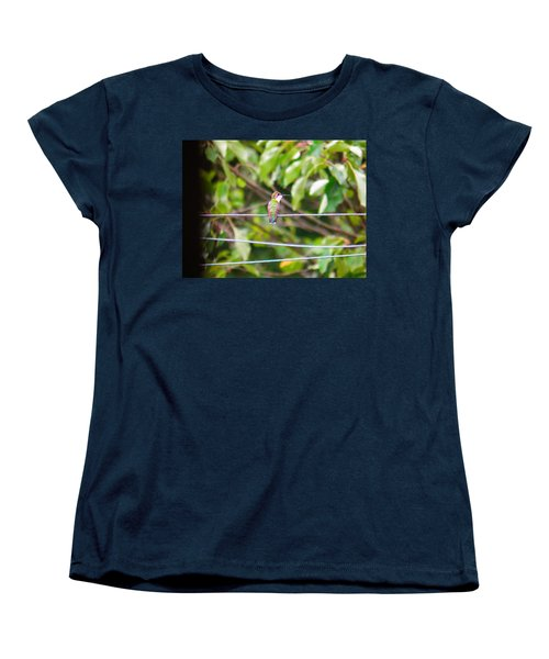 Women's T-Shirt (Standard Cut) featuring the photograph Bird On A Wire by Nick Kirby
