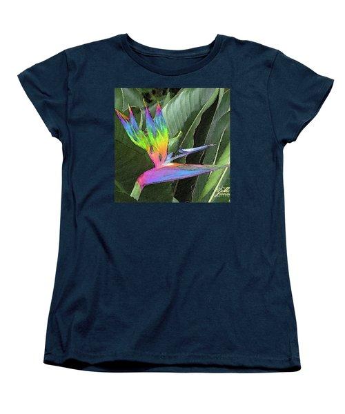 Bird Ow  Paradise Women's T-Shirt (Standard Cut) by Suzette Kallen