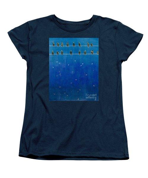 Birds And Fish Women's T-Shirt (Standard Cut) by Stefanie Forck