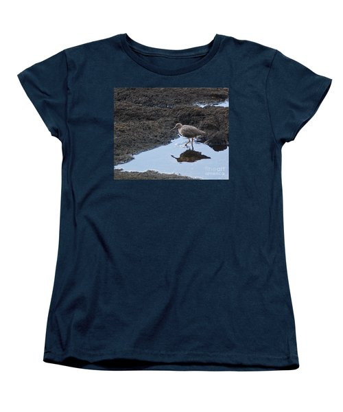 Bird's Reflection Women's T-Shirt (Standard Cut) by Belinda Greb