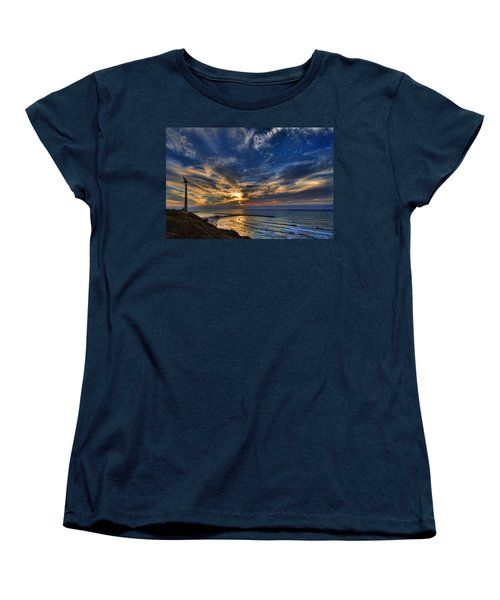 Women's T-Shirt (Standard Cut) featuring the photograph Birdy Bird At Hilton Beach by Ron Shoshani