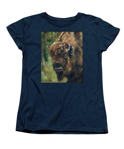 Bison Study - Zero Three Women's T-Shirt (Standard Cut) by Lori Brackett