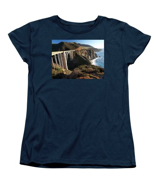 Bixby Bridge Afternoon Women's T-Shirt (Standard Cut) by Joe Schofield