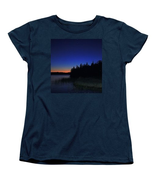 Black And Blue Sky Women's T-Shirt (Standard Cut) by Jason Lees