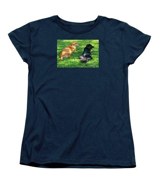 Black And Tan Women's T-Shirt (Standard Cut) by Joy Hardee