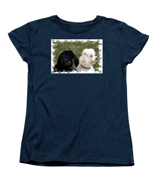 Women's T-Shirt (Standard Cut) featuring the photograph Black And White by Ellen O'Reilly