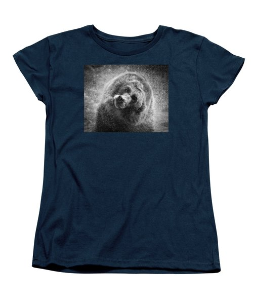 Black And White Grizzly Women's T-Shirt (Standard Cut) by Steve McKinzie