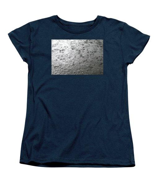 Black And White Rain Women's T-Shirt (Standard Cut) by Leena Pekkalainen