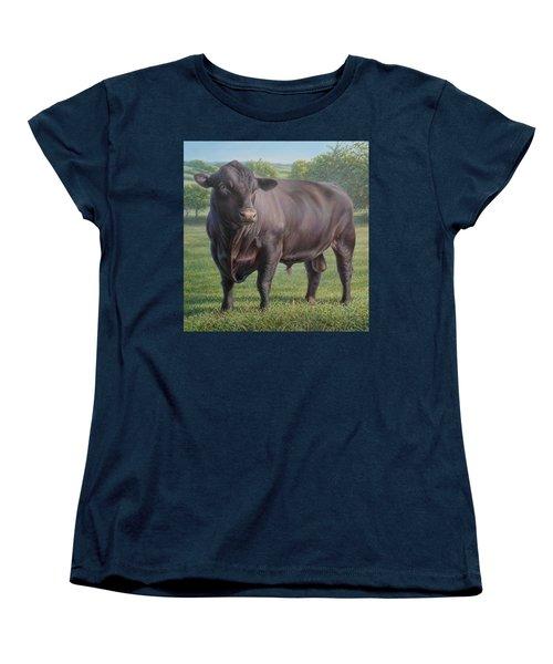 Black Angus Bull 2 Women's T-Shirt (Standard Cut) by Hans Droog