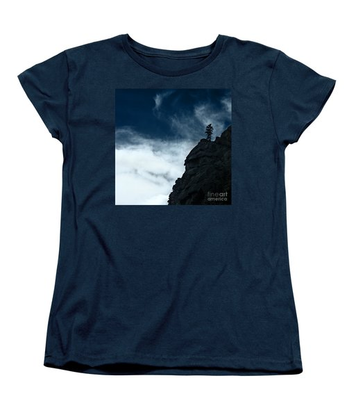 Women's T-Shirt (Standard Cut) featuring the photograph Black Cliff by Dana DiPasquale