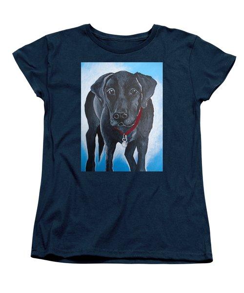Black Lab Women's T-Shirt (Standard Cut) by Leslie Manley