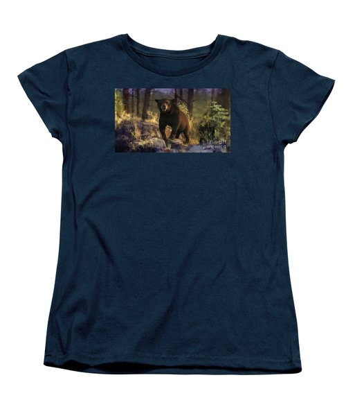Women's T-Shirt (Standard Cut) featuring the painting Black Max by Rob Corsetti