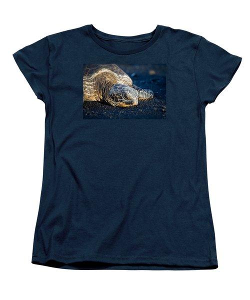 Black Sand Nap Women's T-Shirt (Standard Cut) by Denise Bird