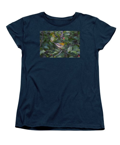 Women's T-Shirt (Standard Cut) featuring the photograph Black-throated Green Warbler by James Petersen