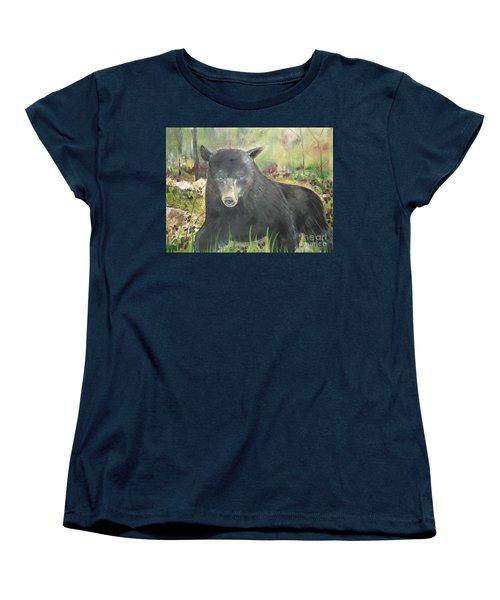 Women's T-Shirt (Standard Cut) featuring the painting Blackberry Scruffy 2 by Jan Dappen