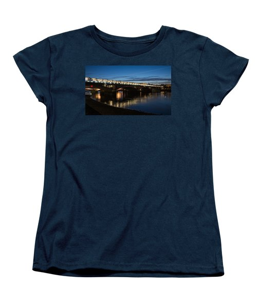 Women's T-Shirt (Standard Cut) featuring the photograph Blackfriars Bridge - London U K by Georgia Mizuleva