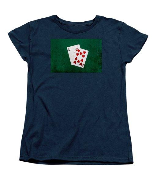 Blackjack Twenty One 1 Women's T-Shirt (Standard Cut) by Alexander Senin