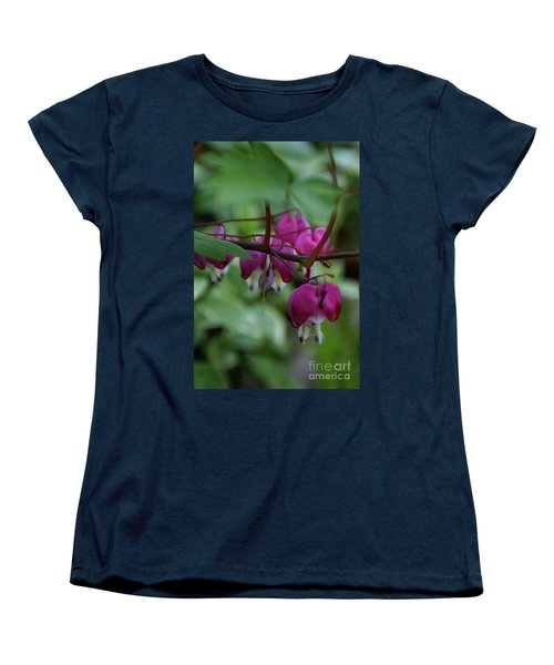 Bleeding Heart Women's T-Shirt (Standard Cut) by Linda Shafer