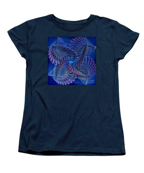 Blue 3 Women's T-Shirt (Standard Cut) by Deborah Benoit