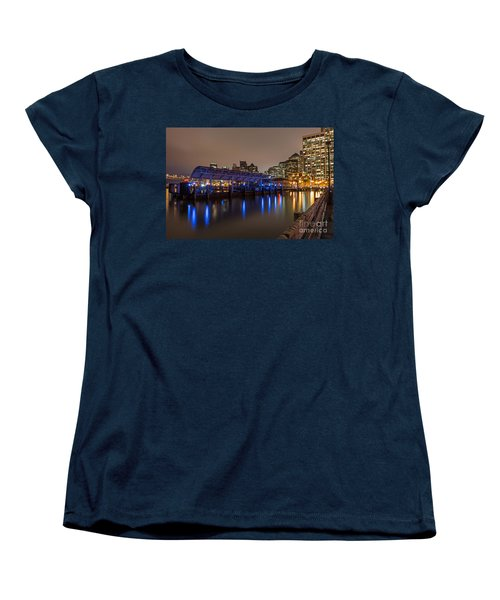 Blue And Gold Night Women's T-Shirt (Standard Cut) by Kate Brown