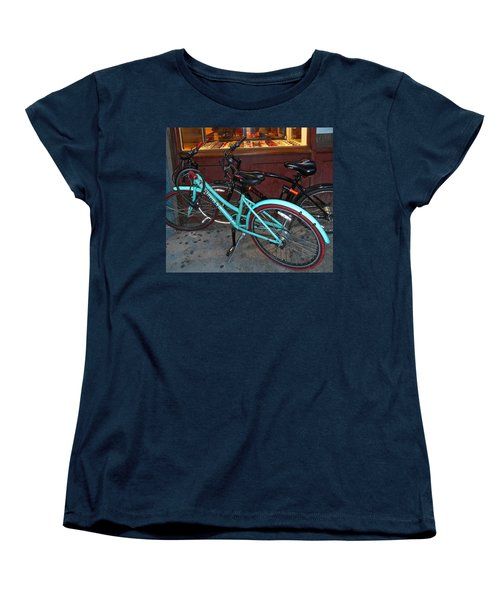 Women's T-Shirt (Standard Cut) featuring the photograph Blue Bianchi Bike by Joan Reese