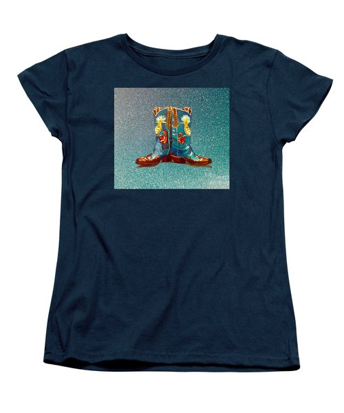 Blue Boots Women's T-Shirt (Standard Cut) by Mayhem Mediums